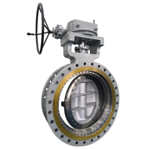 Flange end Triple Offset Butterfly Valve With Gearbox