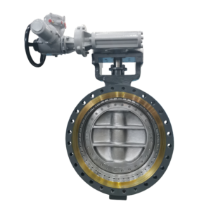 Flange end Triple Offset Butterfly Valve With Motor